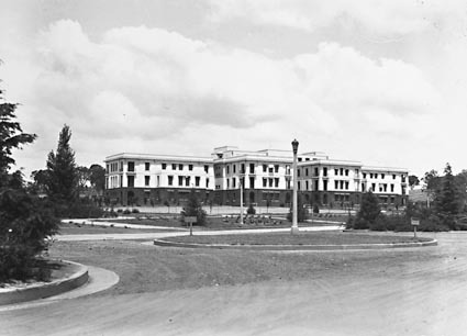 West Block Offices, from Commonwealth Avenue