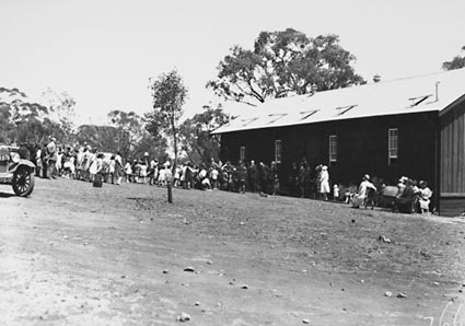 Opening of Mt Russell School, Building was relocated from Ainslie