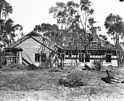 House under construction at Acton