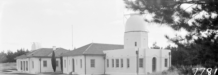 Mt Stromlo, Commonwealth Solar Observatory Offices, 6 inch Farnham Telescope on the right.