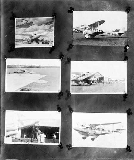 Six photos of De Havilland DT 1 biplane of Qantas Empire Airways VH-USC.