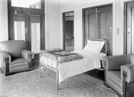 Speakers Room, Parliament House. The bed folded into the cupboard directly behind it.
