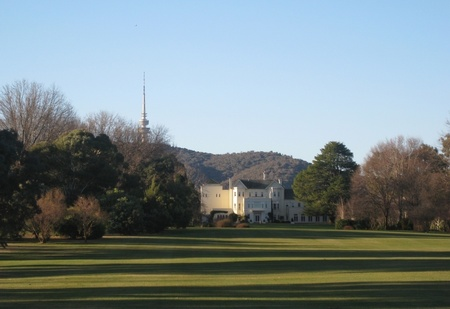 Government House taken from the lookout on Lady Denman Drive, Yarralumla