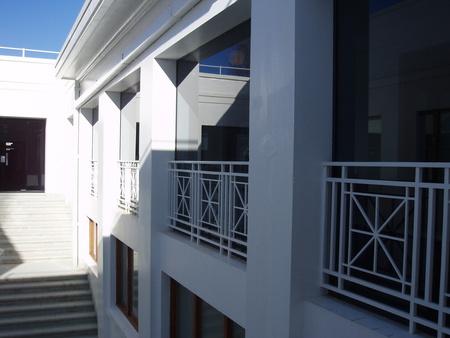 Enclosed interior balcony