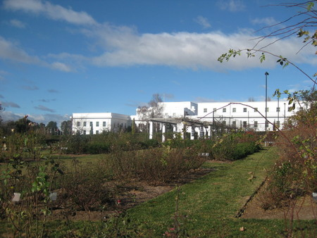 Old Parliament House from western rose gardens