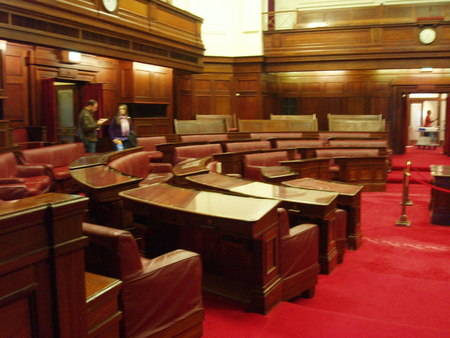 Current view of the Senate Chamber