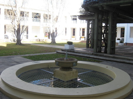 View of the courtyard with fountain