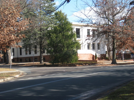 Present day view of the National Archives of Australia building at Parkes (just near Old Parliament House)