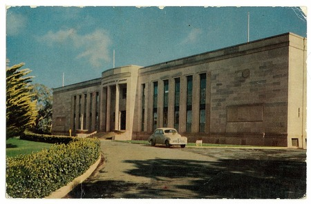 Federal Capital Commission architect W. Hayward Morris, 1929. Postcard, appears to be early 1950s.
