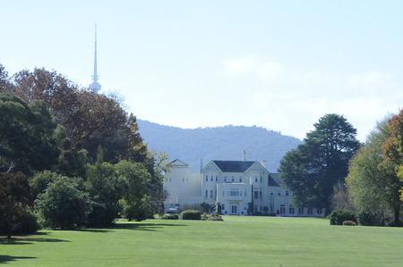 View of Government House from Lady Denman Drive lookout.