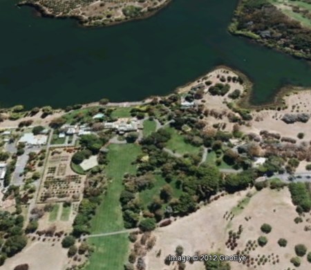 The Molonglo is now part of the lake. From Google Earth