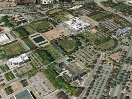 How interesting to see the bare bones of the gardens laid out, then coming to fruition. From Google Earth