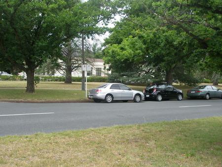 Ainslie Arts Centre, Elouera Street, Braddon.  Taken from across Elouera Street at about 2pm.