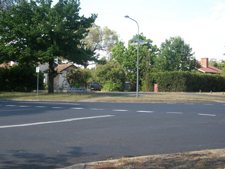 Corner of Batman and Doonkuna Streets, looking from Gorman House corner.
