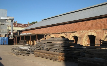 View of the Brick Kilns of Denman st Yarralumla - currently houses a wood recycling business and various artisans