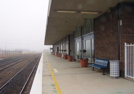 Platform at modern day Canberra railway station