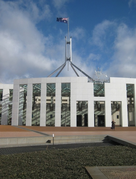 A very different view of the modern day capital hill (Parliament House)