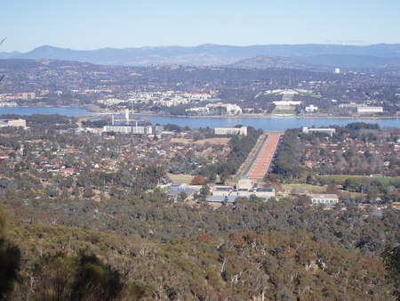 Panorama from Mt Ainslie look-out