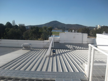 With limited access to the roof nowadays;  the view to Mt Ainslie from an upper storey window