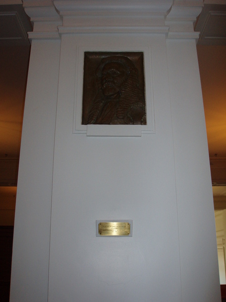 Whilst some of the paintings have changed position, the medallions are still in place