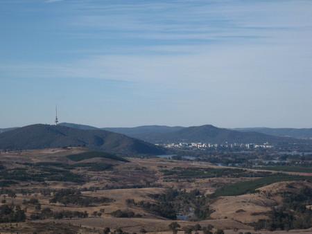 Beautiful present day view across Mt Stromlo
